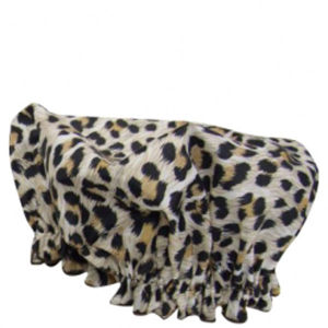 Hydrea London Eco Friendly Shower Cap -suihkumyssy - Leopard