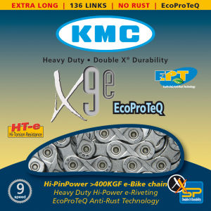 KMC X9 Eco Pro Teq Chain - 136 Links - Silver