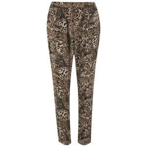 Vero Moda Women's Leopard Print Loose Pants - Black