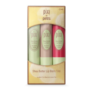 Pixi Shea Butter Lip Balm Trio - Balmy Winter (4g) (Worth £24)