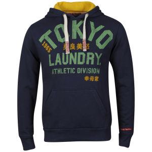 Tokyo Laundry Men's Brock Hooded Sweat - Mood Indigo