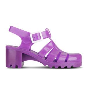 JuJu Women's Babe Heeled Jelly Sandals - Fluro Purple