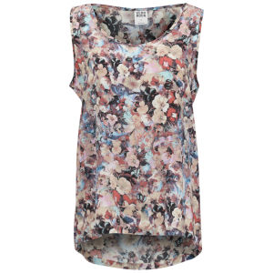 Vero Moda Women's Easy Flower Print Tank Top - Spiced Coral