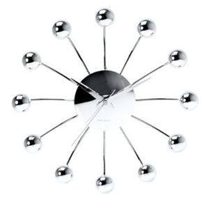 Karlsson Spider Wall Clock with Chrome Balls