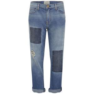 Current/Elliott Women's Fling Kasey with Repair Boyfriend Jeans - Light Blue