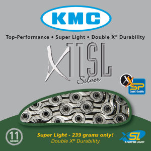 KMC X11 Super Light Diamond Like Coating Kette - 114 Kettenblätter - schwarz