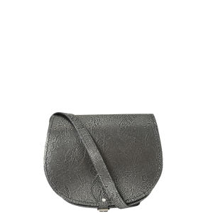 Zatchels Filigree Small Saddle Bag - Silver