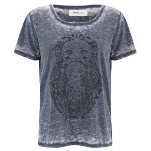 Vero Moda Women's Moog Burnout T-Shirt - Black Iris