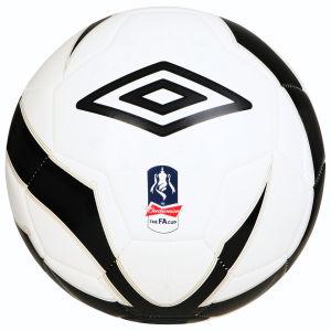 Ballon de Football Umbro FA Cup - Blanc / Noir / Or