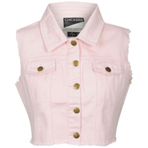 Chickster Women's Frayed Parfait Gilet - Pink