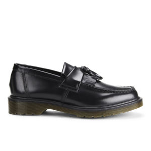 Dr. Martens Women's Adrian Polished Smooth Leather Tassle Loafers - Black