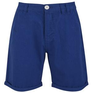Soul Star Men's Chino Melton Shorts - Cobalt
