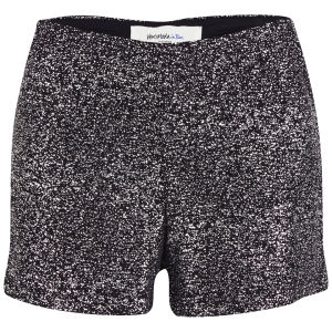 Vero Moda Women's Sparka Sequin High Waisted Shorts - Silver