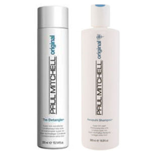 Paul Mitchell Awapuhi Shampoo (500 ml) og The Detangler (500 ml)