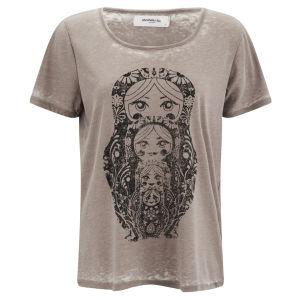Vero Moda Women's Moog Burnout T-Shirt - Moon Rock