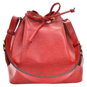 Louis Vuitton Vintage Red Epi Leather Noe Petit Red Shoulder Bag