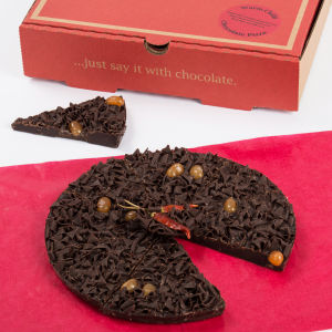 Pizza en chocolat Double Delight -The Gourmet Chocolate Pizza Company