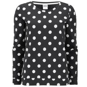 Vero Moda Doris Polka Dot Top - Black