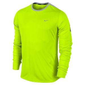 Nike Men's Racer Long Sleeve Running Top - Volt Green