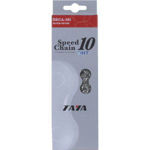 Taya DECA 101UL 116L 10 Speed Bicycle Chain - Silver/Silver