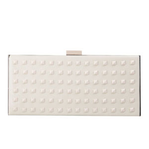 French Connection Anya Leather Clutch Bag - Cream
