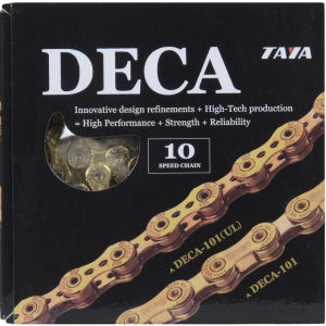 Taya Deca 101 116L 10 Speed Bicycle Chain - Ti-Gold