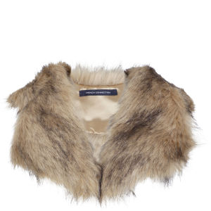 French Connection Lucy Faux Fur Collar - Beige