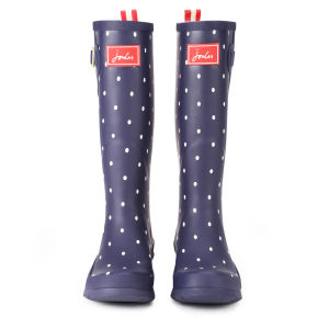Joules Women's Welly Print Wellies - Navy Spot: Image 2