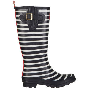 Joules Women's Welly Print Wellies - French Stripe