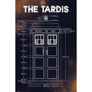 Doctor Who Tardis Plans - Maxi Poster - 61 x 91.5cm