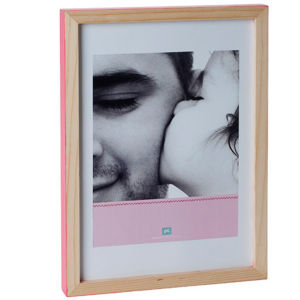 Large Hand Painted Photo Frame - Dark Pink