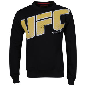 UFC Men's Halftone Sweat Shirt - Black
