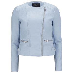 VILA Women's ViPax PU Jacket - Blue Fog