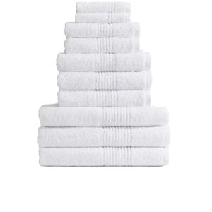 Highams 100% Egyptian Cotton 10 Piece Towel Bale (550gsm) - White