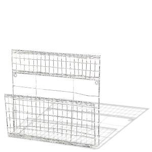 Eku Post Rack - Distressed White - 29cm(H) x 29.5cm(W) x 5.5cm(D)