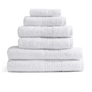 Highams 100% Egyptian Cotton 6 Piece Towel Bale (550gsm) - White