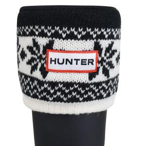 Hunter Unisex Fair Isle Cuff Welly Socks - Black