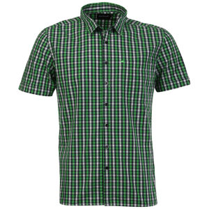 Boxfresh Men's Caelinus Short Sleeved Shirt - Green