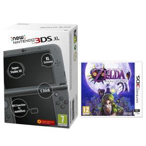 NEW 3DS XL Metallic Blue Console - Includes Legend of Zelda: Majora's Mask: Image 1