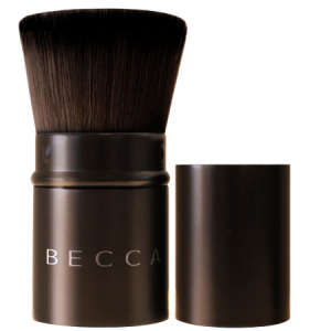 Becca Retractable Kabuki Brush & Satin Pouch