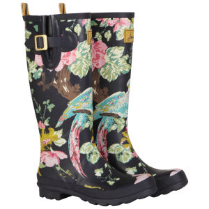 Joules Women's Printed Floral Wellies - Navy