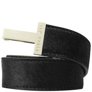 Ted Baker Pippi Exotic T Buckle Belt - Black