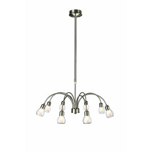 Philips Eseo Durabo 8 Light Ceiling Lamp - Nickel