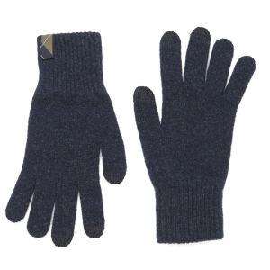 Barbour Dunbar Knitted Touchscreen Gloves - Naval Blue