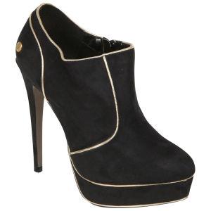 Blink Women's Suede Combo Heels - Black