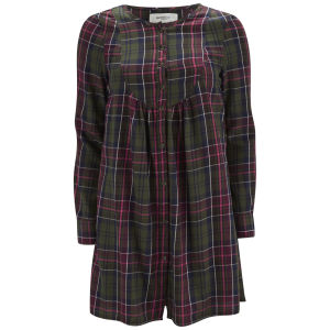 Vero Moda Women's Channet Tartan Smock Dress - Forest Night