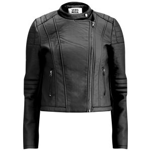 Vero Moda Women's Tattoo Biker Jacket - Black