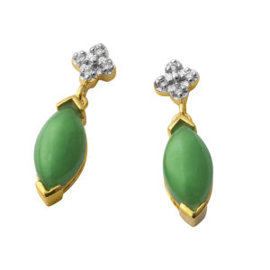 Jade Green Drop Earrings