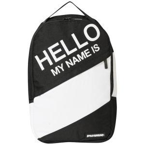 Sprayground Hello My Name Is Backpack - Black/White