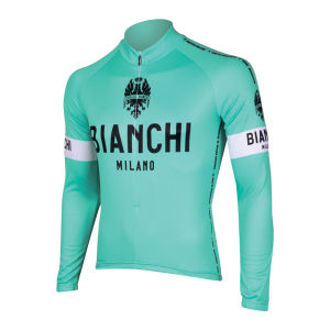 Bianchi Men's Leggenda Long Sleeve Full Zip Jersey - Celeste